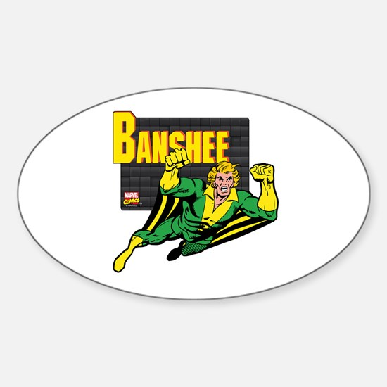 Banshee X-men Sticker (Oval)