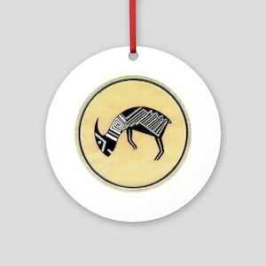 MIMBRES BATTERING RAM BOWL DESIGN Ornament (Round)