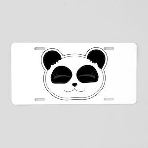 Cute Happy Panda Aluminum License Plate