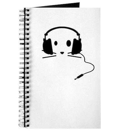 Cat With Headphones Journal