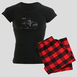 Pioneer 10 Plaque v2 Women's Dark Pajamas