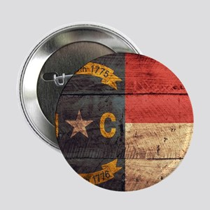 """Wooden North Carolina Flag3 2.25"""" Button (10 pack)"""