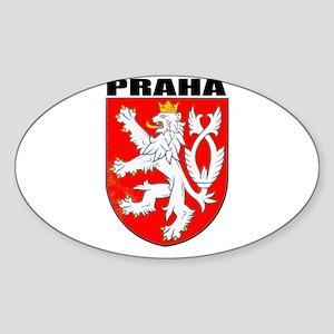 Praha, Czech Republic Oval Sticker