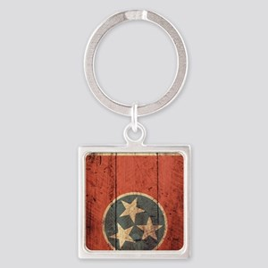 Wooden Tennessee Flag3 Keychains