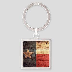 Wooden Texas Flag3 Keychains