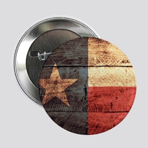 """Wooden Texas Flag3 2.25"""" Button (10 pack)"""