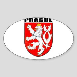 Prague, Czech Republic Oval Sticker