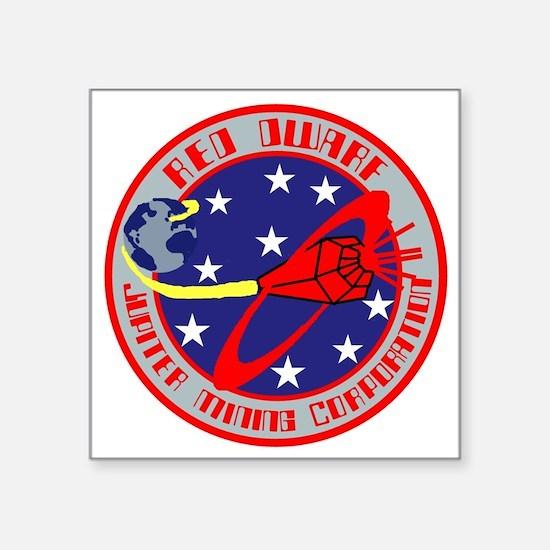 "Jupiter Mining Corporation Square Sticker 3"" x 3"""