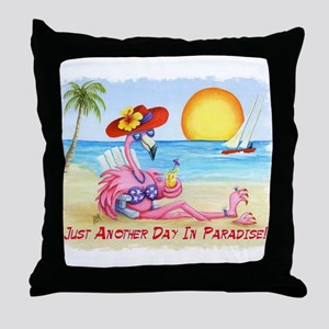 Just Another Day in... Throw Pillow