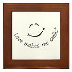 Love Makes Me Smile Framed Tile