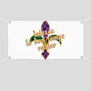 Mardi Gras Bon Temps Rouler Banner