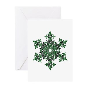 Green celtic knot greeting cards cafepress m4hsunfo