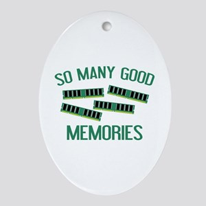 So Many Good Memories Ornament (Oval)