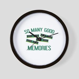 So Many Good Memories Wall Clock