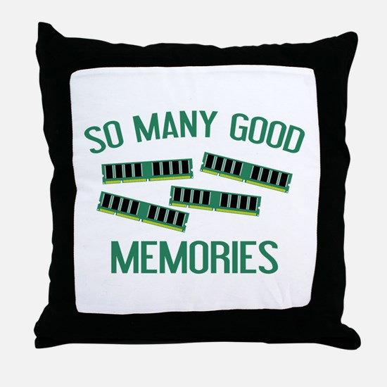 So Many Good Memories Throw Pillow