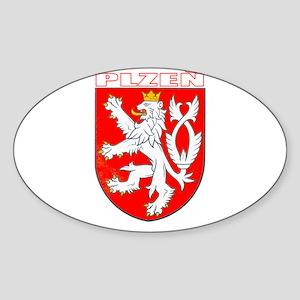 Plzen, Czech Republic Oval Sticker