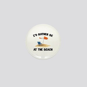 I'd Rather Be At The Beach Mini Button
