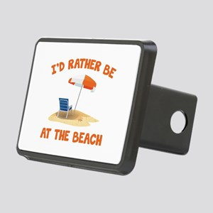 I'd Rather Be At The Beach Rectangular Hitch Cover