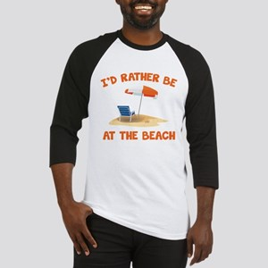 I'd Rather Be At The Beach Baseball Jersey