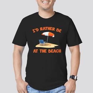 I'd Rather Be At The Beach Men's Fitted T-Shirt (d