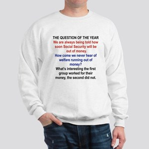 THE QUESTION OF THE YEAR Sweatshirt