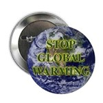Stop Global Warming Earth Button