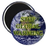 Stop Global Warming Earth Magnet
