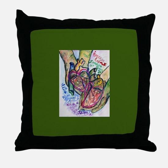 Zombie Love Poem Throw Pillow