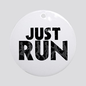 Just Run Ornament (Round)