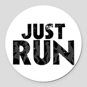 Just Run Round Car Magnet