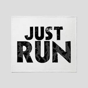Just Run Throw Blanket