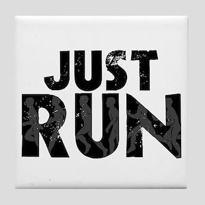 Just Run Tile Coaster