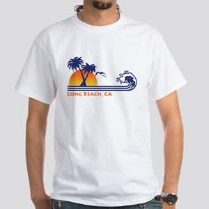 Long Beach California White T-Shirt