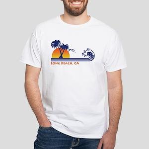 Long Beach California White T-Shirt