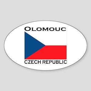 Olomouc, Czech Republic Oval Sticker