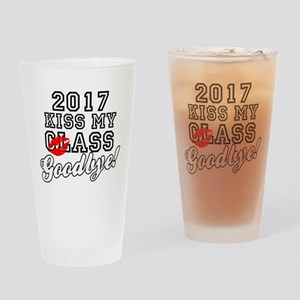 Kiss My Class Goodbye 2017 Drinking Glass