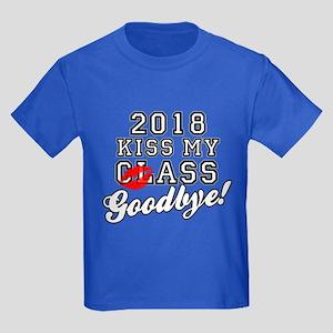 Kiss My Class Goodbye 2018 Kids Dark T-Shirt