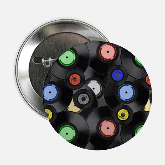 """Vinyl Records Pattern 3 2.25"""" Button (10 pack)"""
