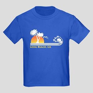Long Beach California Kids Dark T-Shirt