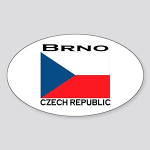 Brno, Czech Republic Oval Sticker