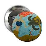 Mermaid & Sea Turtle Button