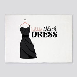 Little Black DRESS 5'x7'Area Rug
