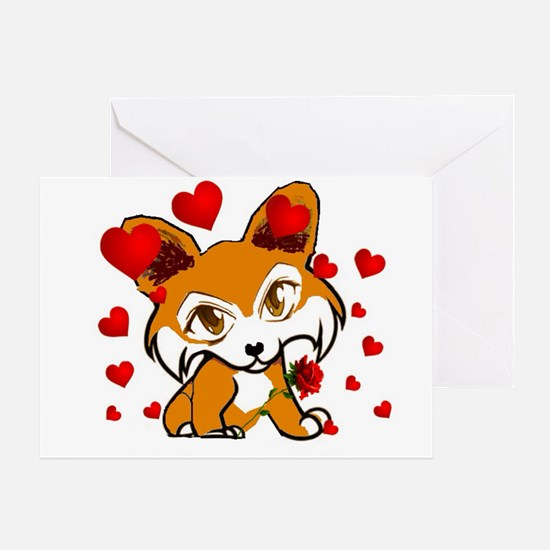 Valentines Day Corgi Greeting Card