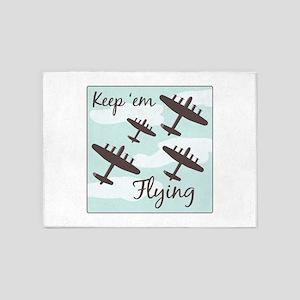 Keep em Flying 5'x7'Area Rug