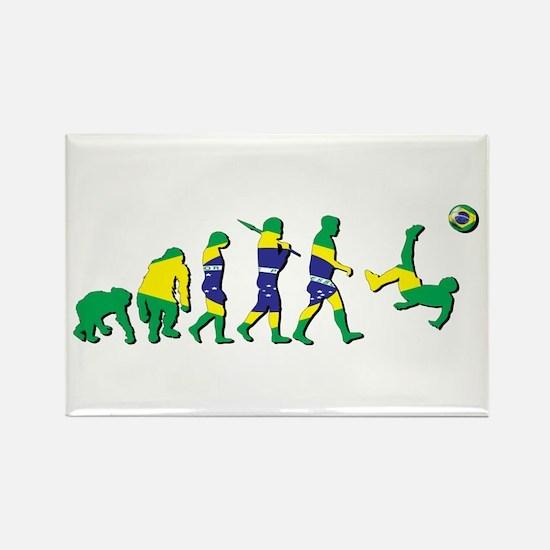 Evolution of Brazil Football Rectangle Magnet