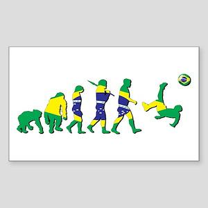 Evolution of Brazil Football Sticker (Rectangle)