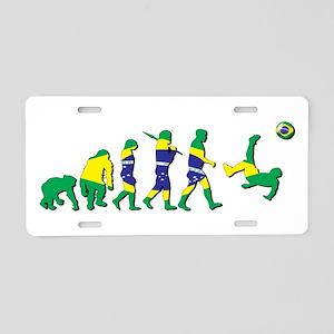 Evolution of Brazil Football Aluminum License Plat