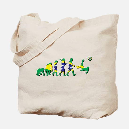Evolution of Brazil Football Tote Bag