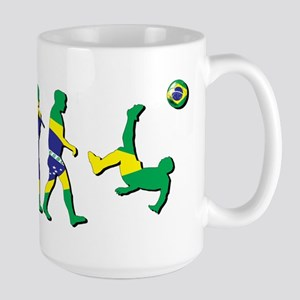Evolution of Brazil Football Large Mug