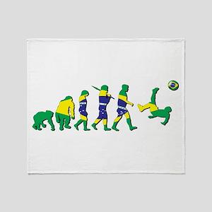 Evolution of Brazil Football Throw Blanket